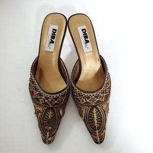 Diba Shoes - Diba bead and sequin mules size 8M